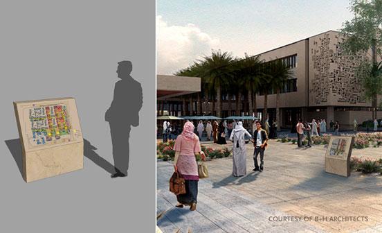 catt lyon design wayfinding   doha institute for